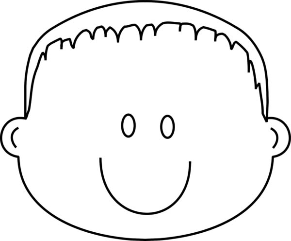 Face, : Preschool Kid Type of Face Coloring Page