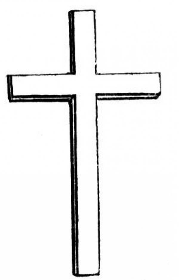 Cross, : Preschool Kids Latin Cross Coloring Page