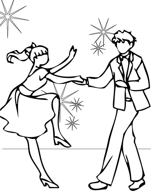 Dance, : Prom Night Dance Coloring Page