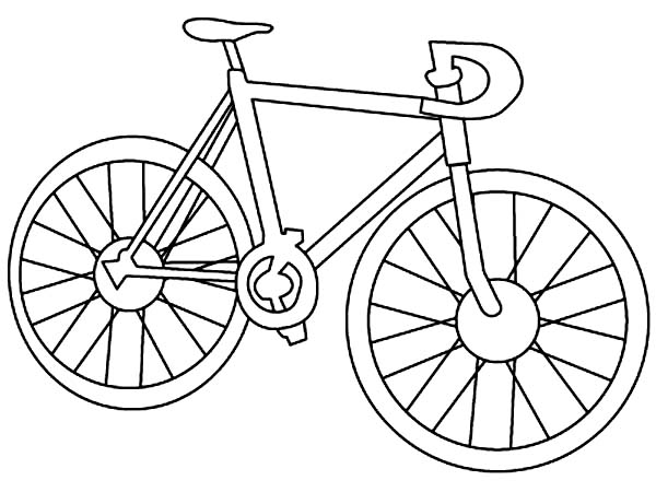 Bicycle, : Racing Bicycle Coloring Page