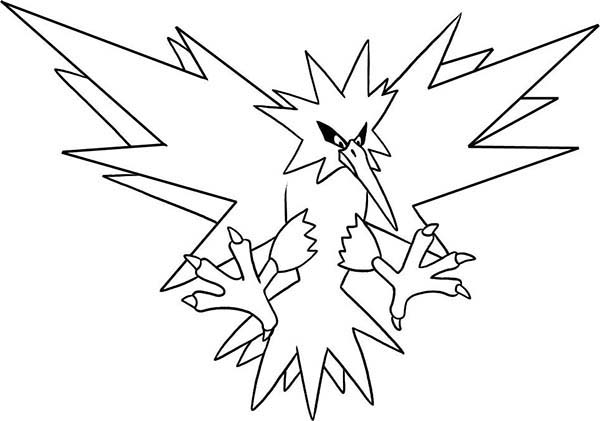 Articuno, : Rage of Pokemon Articuno Coloring Page
