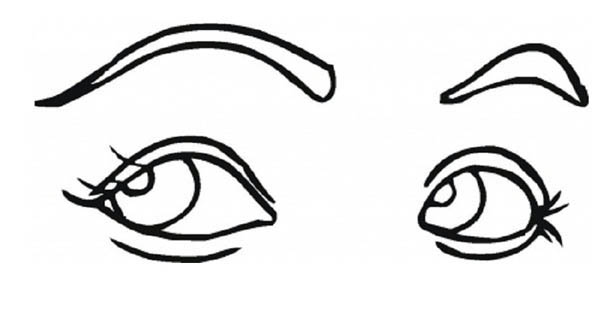 Eyes, : Romantic Eyes Coloring Page