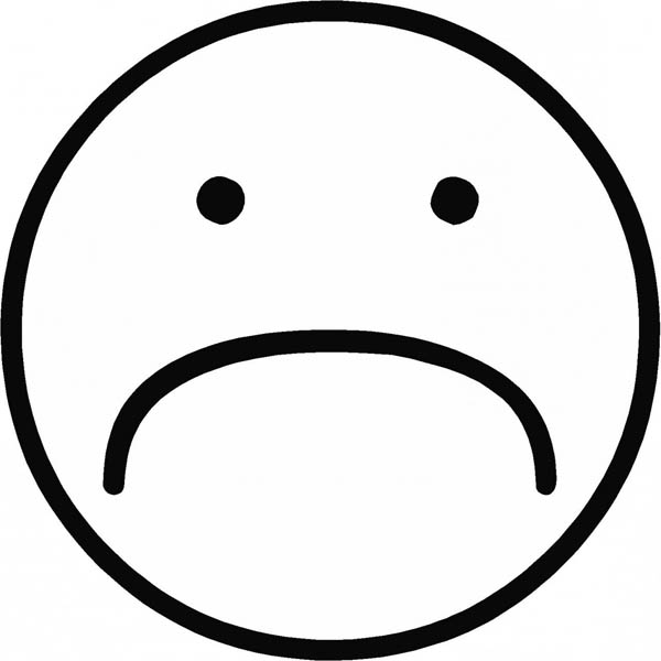 Face, : Sad Smile Face Coloring Page