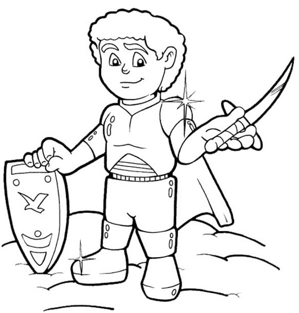 Armor of God, : Shining Armor of God Coloring Page
