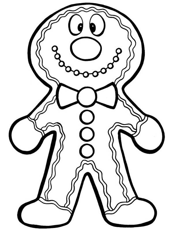 Gingerbread Men, : Silly Gingerbread Men Coloring Page
