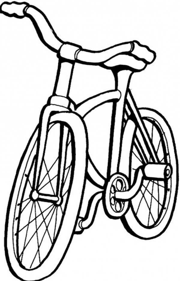 Bicycle, : Single Track Vehicle Bicycle Coloring Page