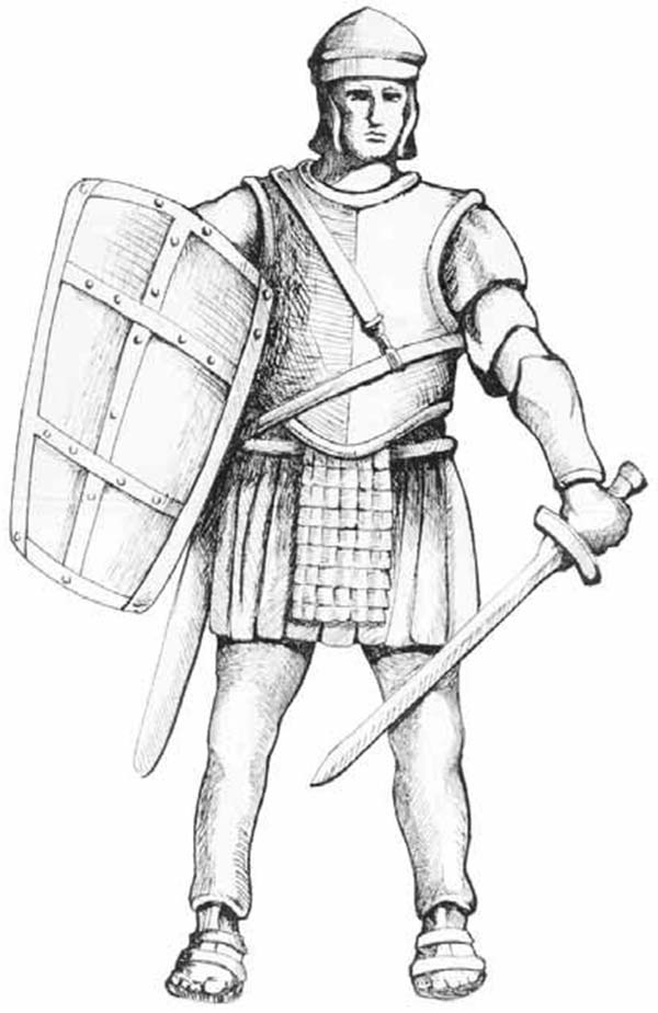 Armor of God, : Sketch of Armor of God Coloring Page