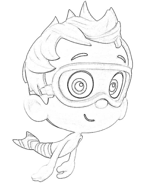 Bubble Guppies, : Sketch of Nonny Bubble Guppies Coloring Page