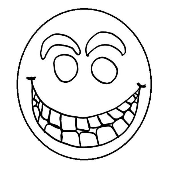 Face, : Smiley Face Coloring Page