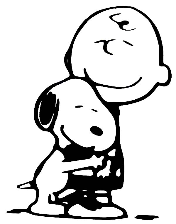 Charlie Brown, : Snoopy Love Charlie Brown Coloring Page