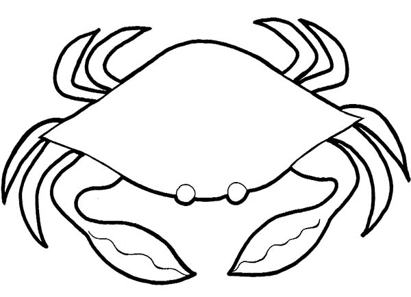 Crab, : Soft Shell Crab Coloring Page