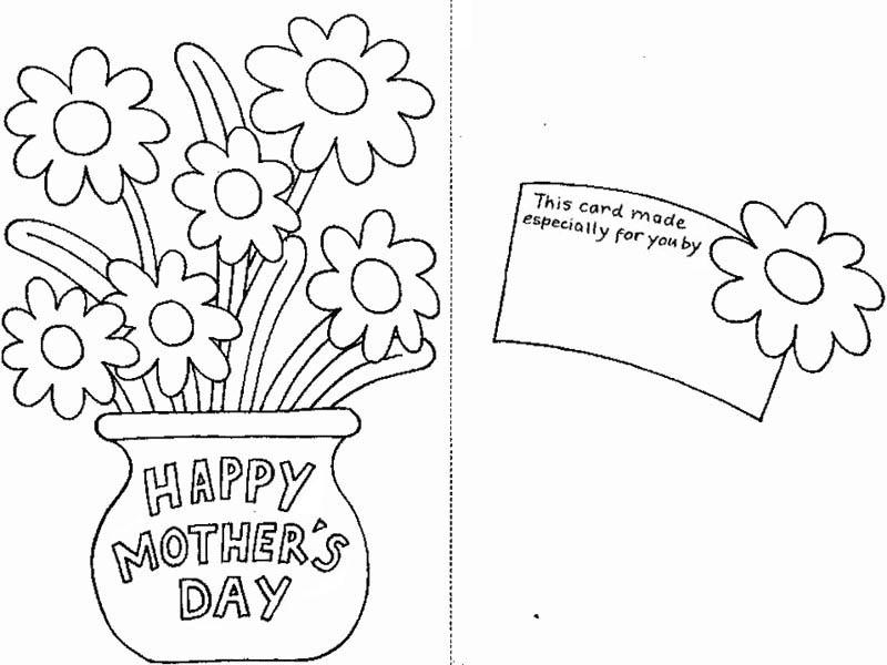 Mothers Day, : Special Greeting Card for Mom on Mothers Day Coloring Page