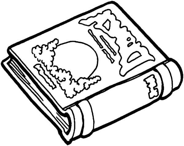 Books, : Story Book for Children Coloring Page