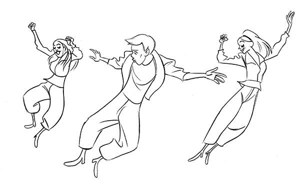 Dance, : Street Dance Competition Coloring Page
