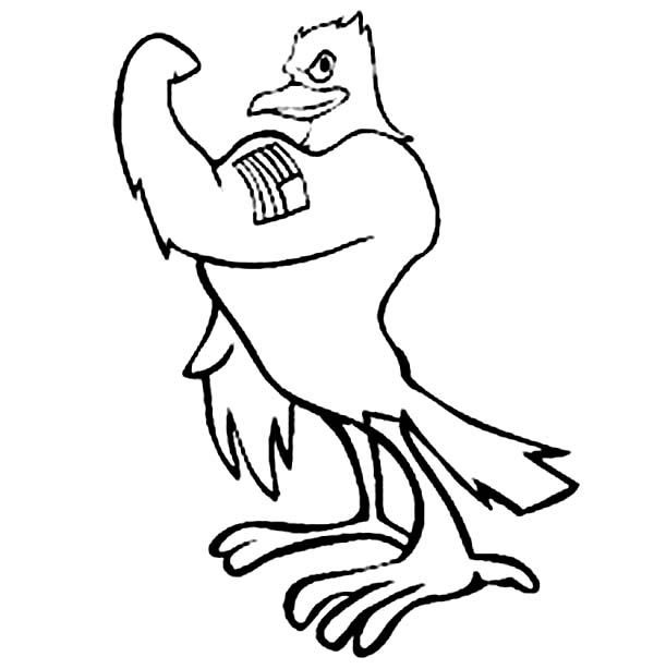 Eagle, : Strong American Eagle Coloring Page