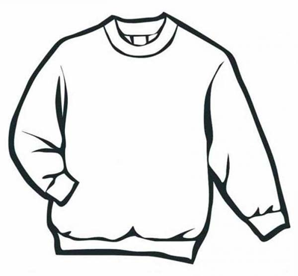 Winter Clothing, : Sweater in Winter Clothing Coloring Page