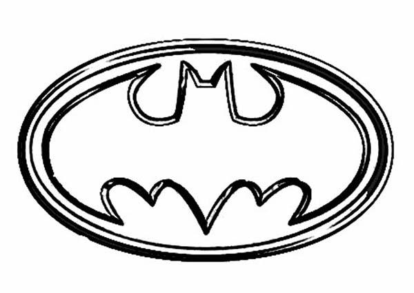 Batman, : Symbol of Batman Coloring Page
