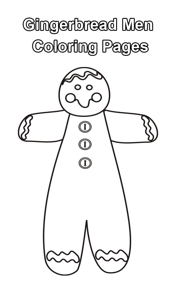Gingerbread Men, : Tall Gingerbread Men Coloring Page