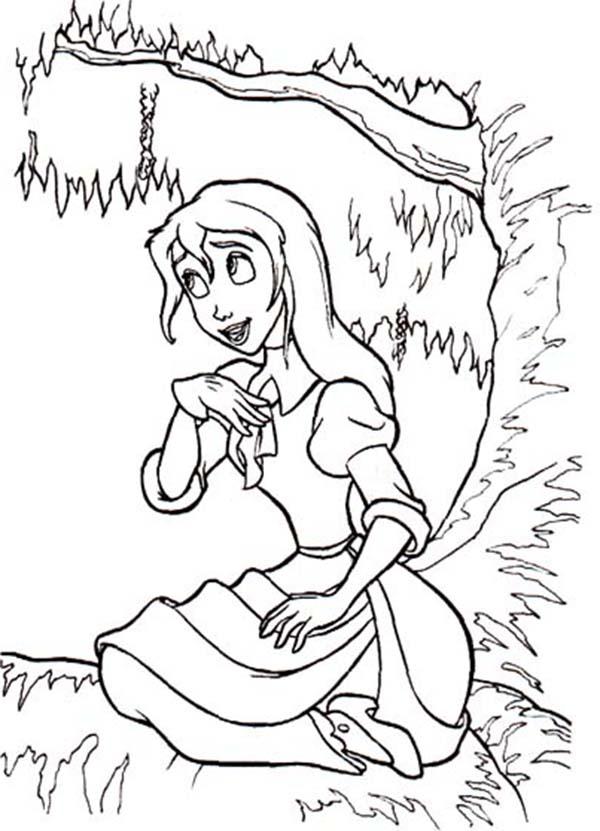 Tarzan, : Tarzan Love Ones Jane Coloring Page