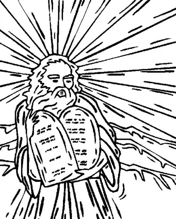 Ten Commandments, : Ten Commandments Image Coloring Page
