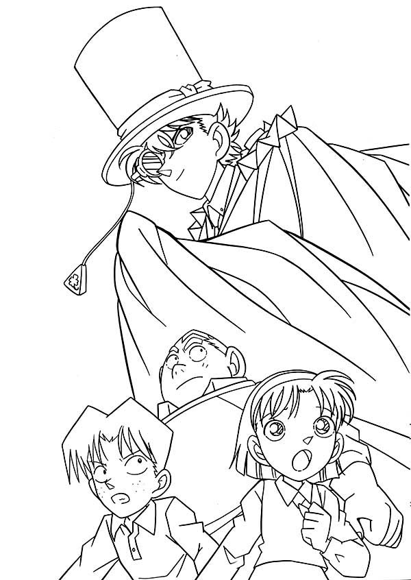 Detective Conan, : The Adventure of Detective Conan Coloring Page