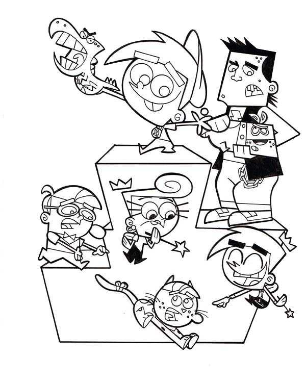 The Fairly Odd Parents, : The Fairly Odd Parents Race Champions Coloring Page
