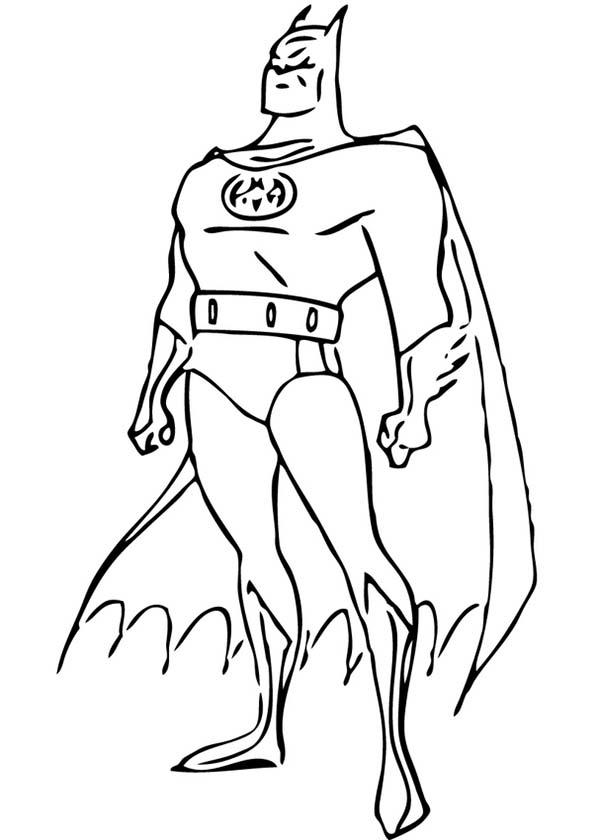 Batman, : The Gotham Hero Batman Coloring Page