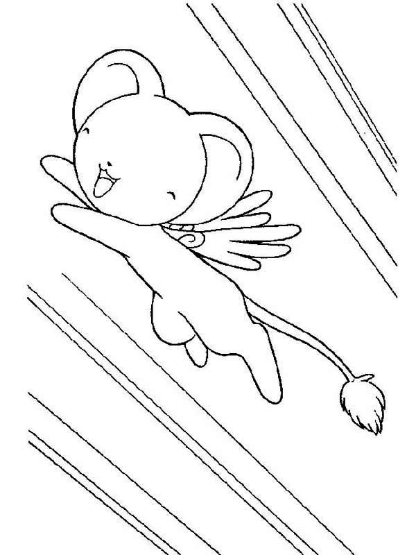 Cardcaptor Sakura, : The Guardian of the Card Keroberos from Cardcaptor Sakura Coloring Page