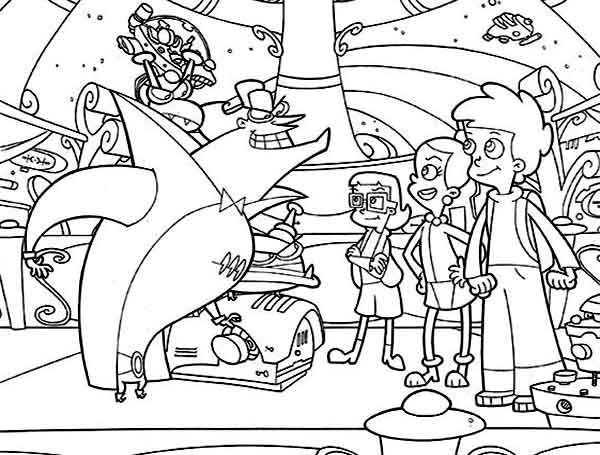 Cyberchase, : The Hacker Threatened Matt and Friends in Cyberchase Coloring Page