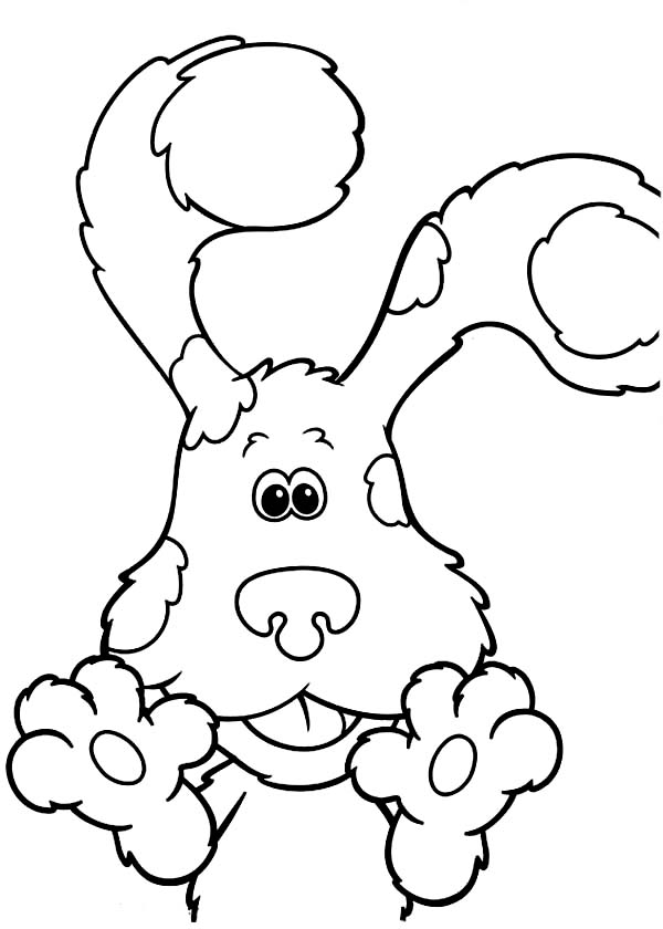 Blues Clues, : The Paws of Blues Clues Coloring Page