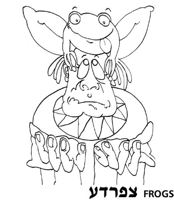 10 Plagues of Egypt, : The Second of 10 Plagues of Egypt was Frog Coloring Page