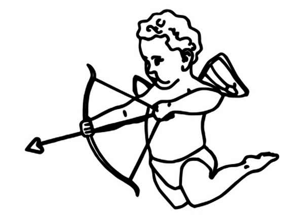 Cupid, : The Son of Love Goddess Venus Cupid Coloring Page