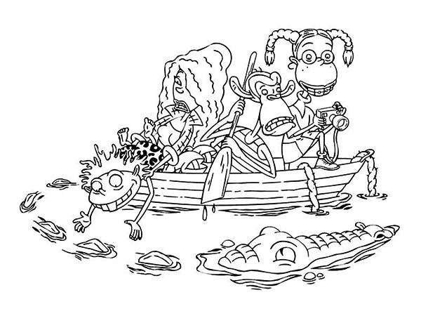 Thornberrys, : The Thornberry Want to Filmed a Crocodile in the Thornberrys Coloring Page