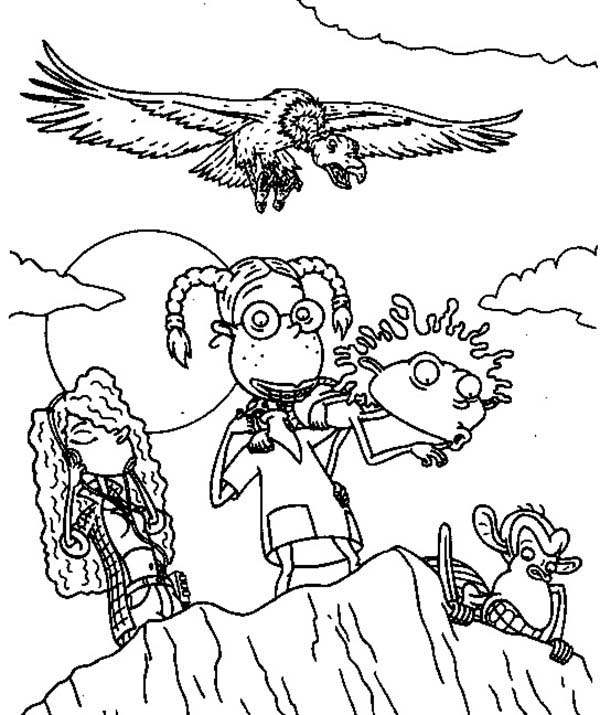 Thornberrys, : The Thornberrys at the End of the Cliff Coloring Page