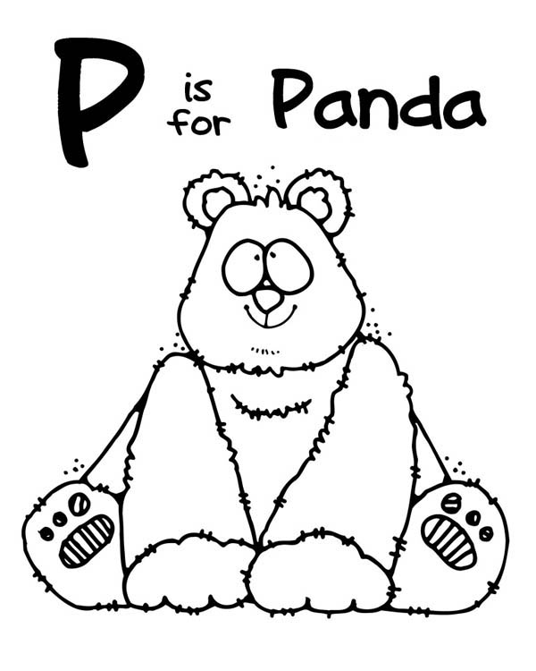 Panda, : This Panda is so Cute Coloring Page