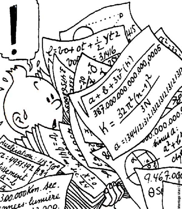 Tintin, : Tintin Carrying Professor Calculus File in the Adventures of Tintin Coloring Page
