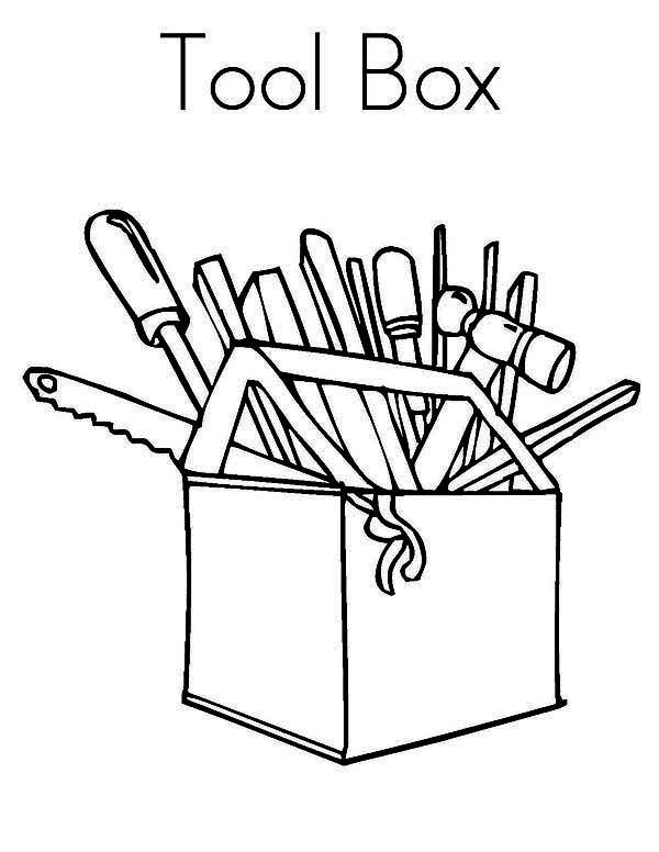 Tool Box Coloring Page Sun