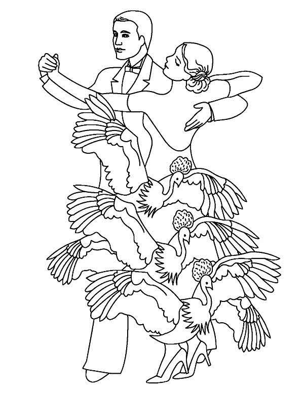 Dance, : Traditional Dance Festival Coloring Page
