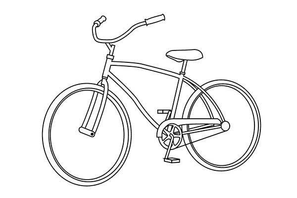 Bicycle, : Transportation Equipment Bicycle Coloring Page