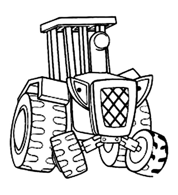 Bob the Builder, : Travis the Tractor from Bob the Builder Coloring Page