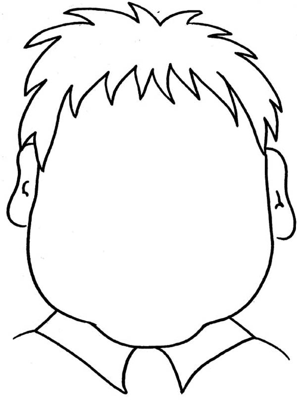 Face, : Triangle Type of Face Coloring Page