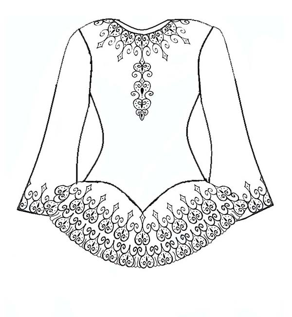 Dress, : Tribal Dress Coloring Page
