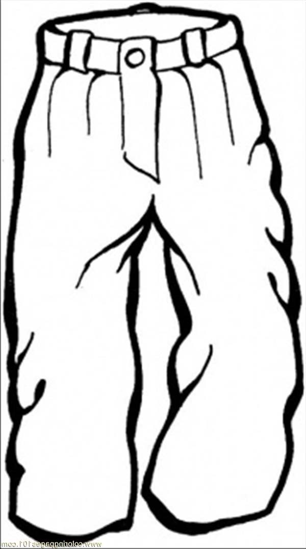 Winter Clothing, : Trousers in Winter Clothing Coloring Page