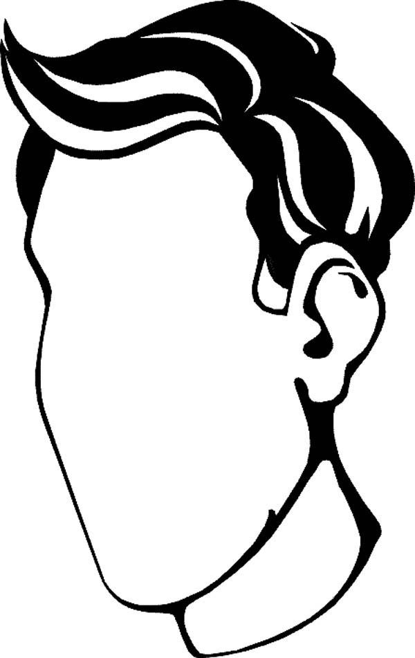 Face, : Type of Face Coloring Page