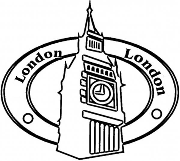 Big Ben, : Upper Big Ben Tower Coloring Page