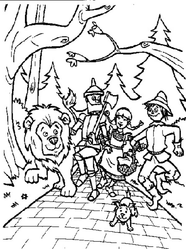 The Wizard of Oz, : Walking Around in the Land of Oz in the Wizard of Oz Coloring Page