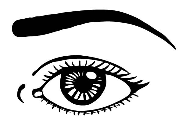 Eyes, : Watching with Eyes Coloring Page