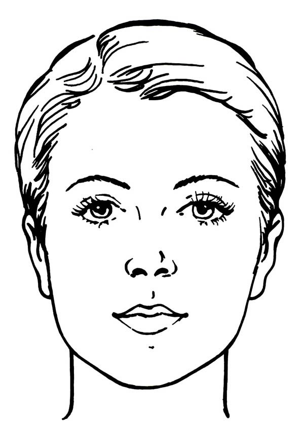 Face, : Water Works Face  Coloring Page
