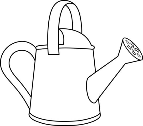 Watering Can, : Watering Can for Gardener Coloring Page