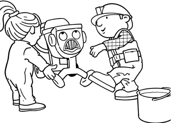 Bob the Builder, : Wendy Help Bob and Dizzy in Bob the Builder Coloring Page